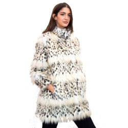 Ecological fur eco spotted lynx
