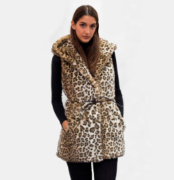 Ecological fur eco spotted ocelot