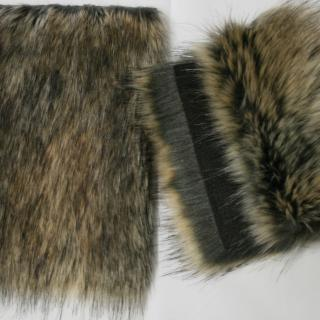 Detail faux fur fabric article marmot color beige brown