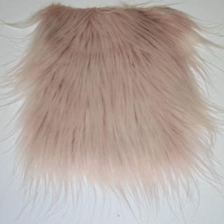 Detail faux fur fabric article smooth mongolia color pink