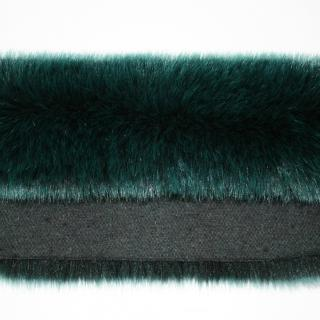 Detail faux fur fabric article fox color bright green