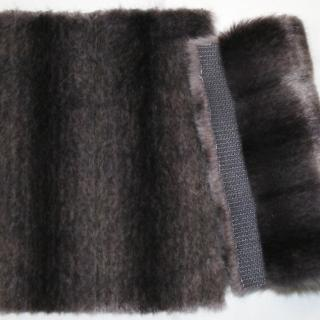Detail faux fur fabric article mink grey black violet
