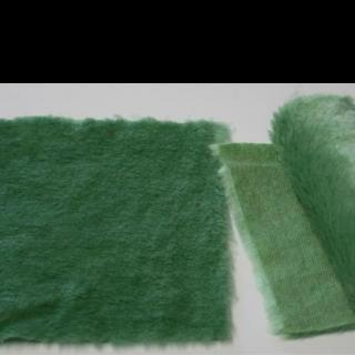 Detail syntethic fur fabric art. Sint C 08 color green