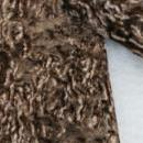 Detail faux fur fabric article astrakhan color brown variegated