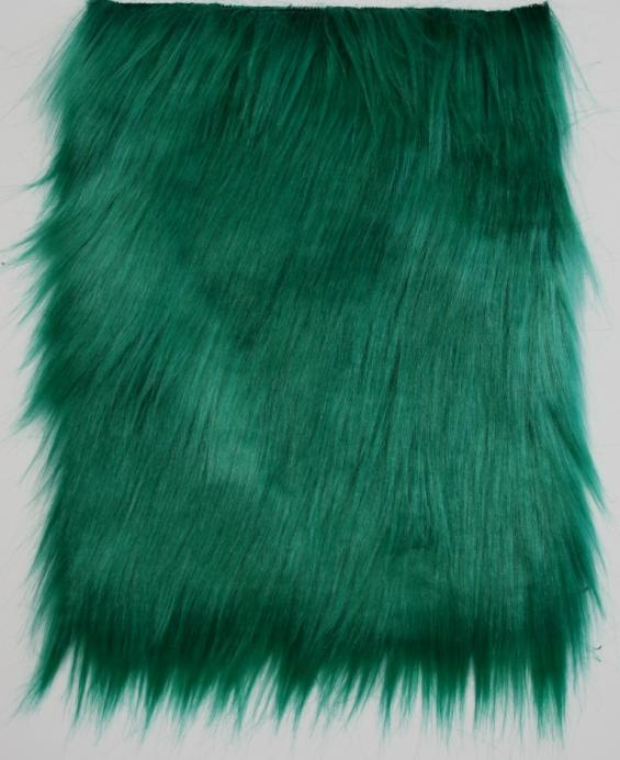 Detail faux fur fabric article smooth mongolia green emerald