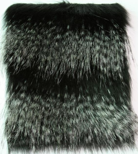 Detail faux fur fabric article ostrich color black and white