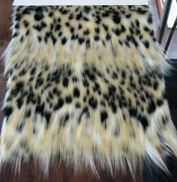 Detail faux fur fabric article eco spotted lynx