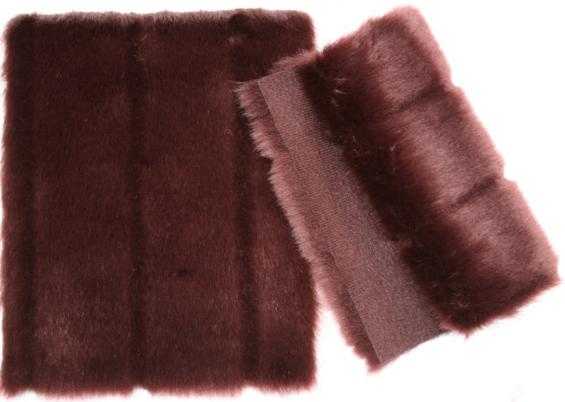 Details faux fur art. mink venus color bordeaux