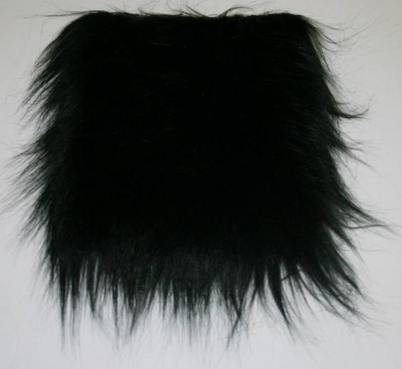 Detail faux fur fabric article smooth mongolia color black