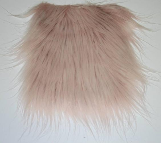 Detail faux fur fabric article smooth mongolia