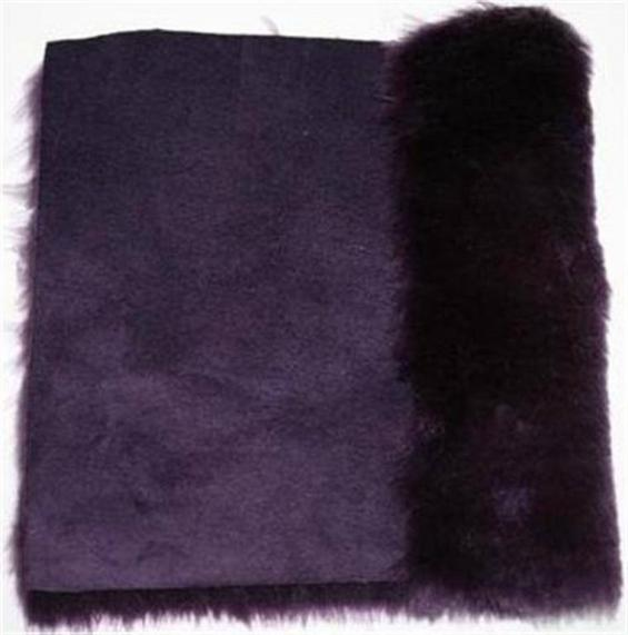 Detail eco-sheepskin fabric - color plum