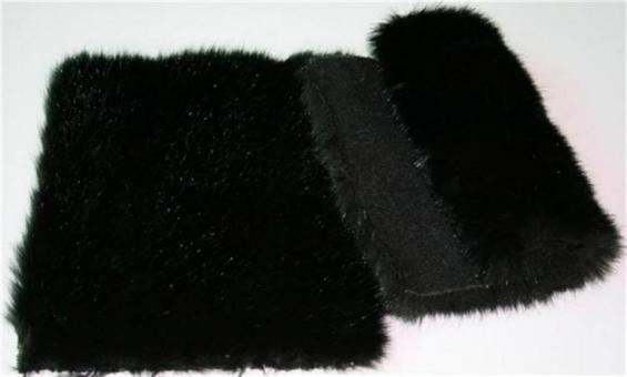 Detail faux fur fabric article mink color black
