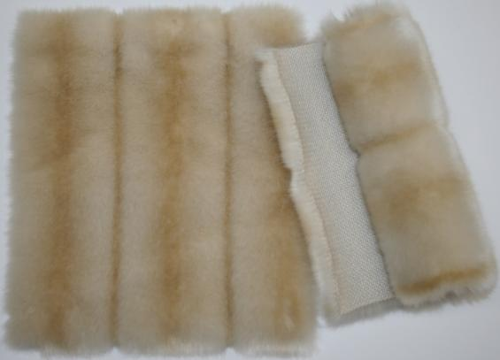 Detail faux fur fabric article mink honey
