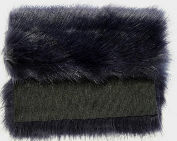 Detail faux fur fabric article fox blue
