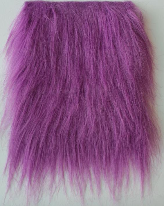 Detail syntethic  fur fabric art. Sint L color violet cobalt