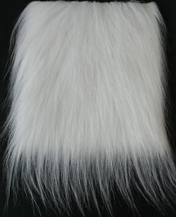 Detail syntethic  fur fabric art. Sint L color white