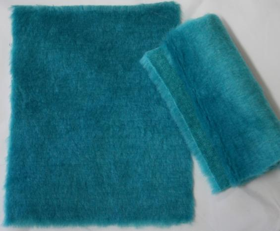 Detail syntethic fur fabrics art. Sint C 06 color turquoise