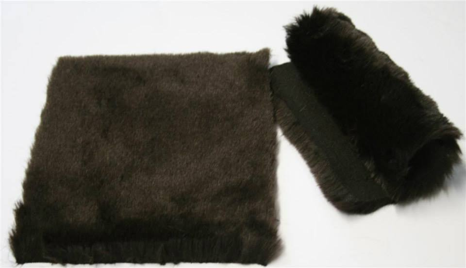 Detail syntethic fur fabric art. Sint C 02 color brown