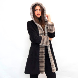 Ecological fur eco sheepskin + eco mink