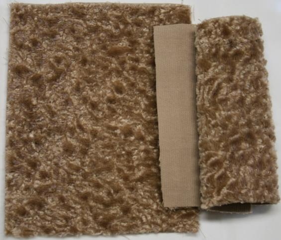 Detail faux fur fabric article persian color beige