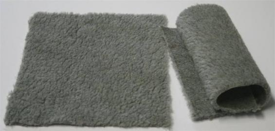 Detail syntethic fur fabric art. Sint P color grey