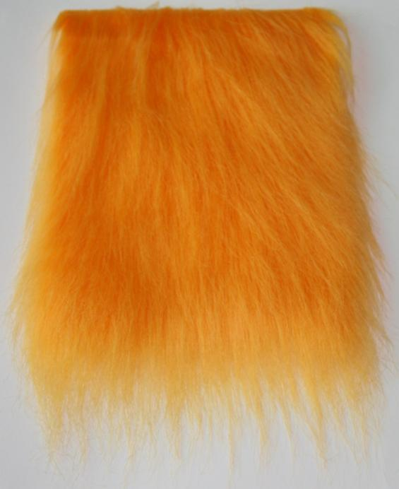 Detail syntethic fur fabric art. Sint L color yellow